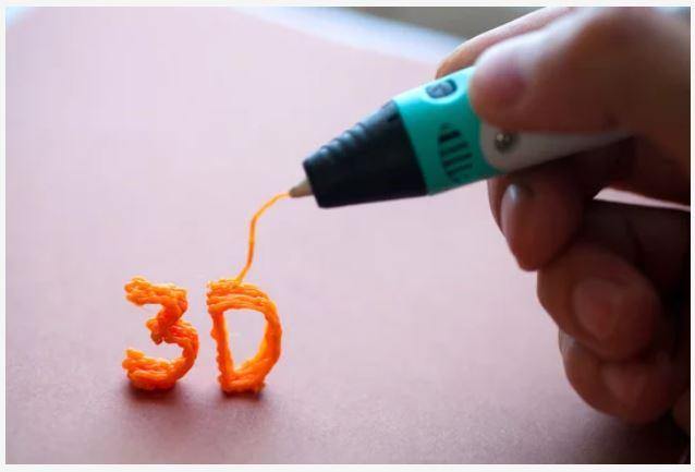 Utilização de uma caneta 3D