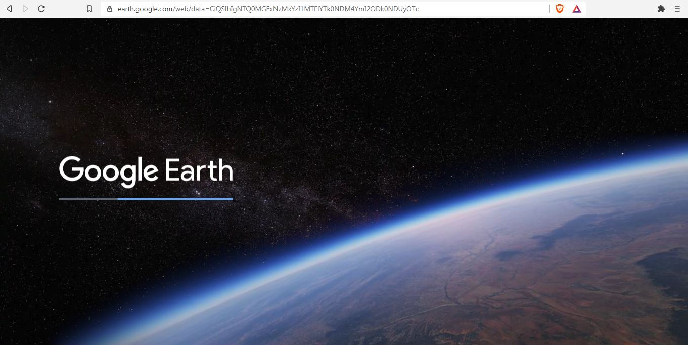 Homepage do Google Earth